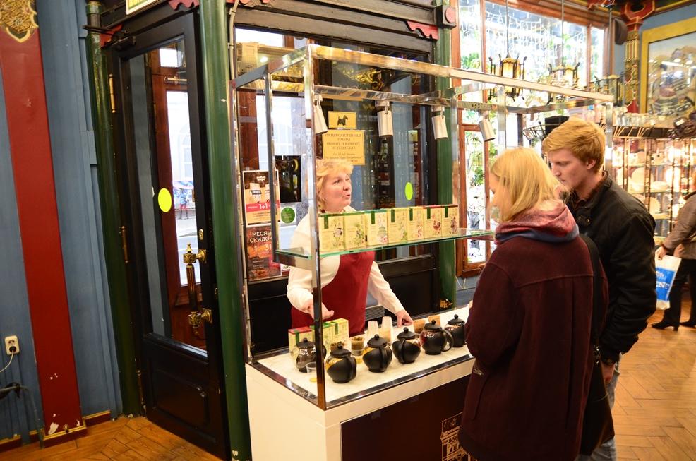 """В магазине """"Чай-Кофе"""" на Мясницкой прошли дегустации китайского чая GREENPANDA"""